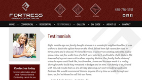 Fortress General Contracting website