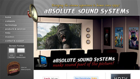 aBSOLUTE sOUND SySTEMs website