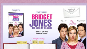 Bridget Jones DVD Minisite